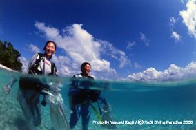 海の浅い所で講習風景2日間で5DIVEします|伊豆アドバンス